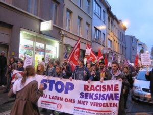 ROSA op betoging tegen Francken in Antwerpen