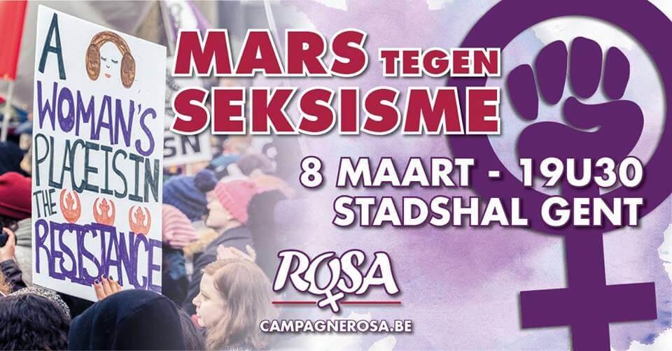 8 maart/Gent – Mars tegen Seksisme