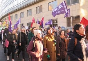 8 maart/Brussel – Toespraken van Marisa en Anja