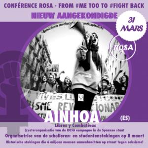 31 maart – Grote ROSA conferentie : From MeToo to FightBack