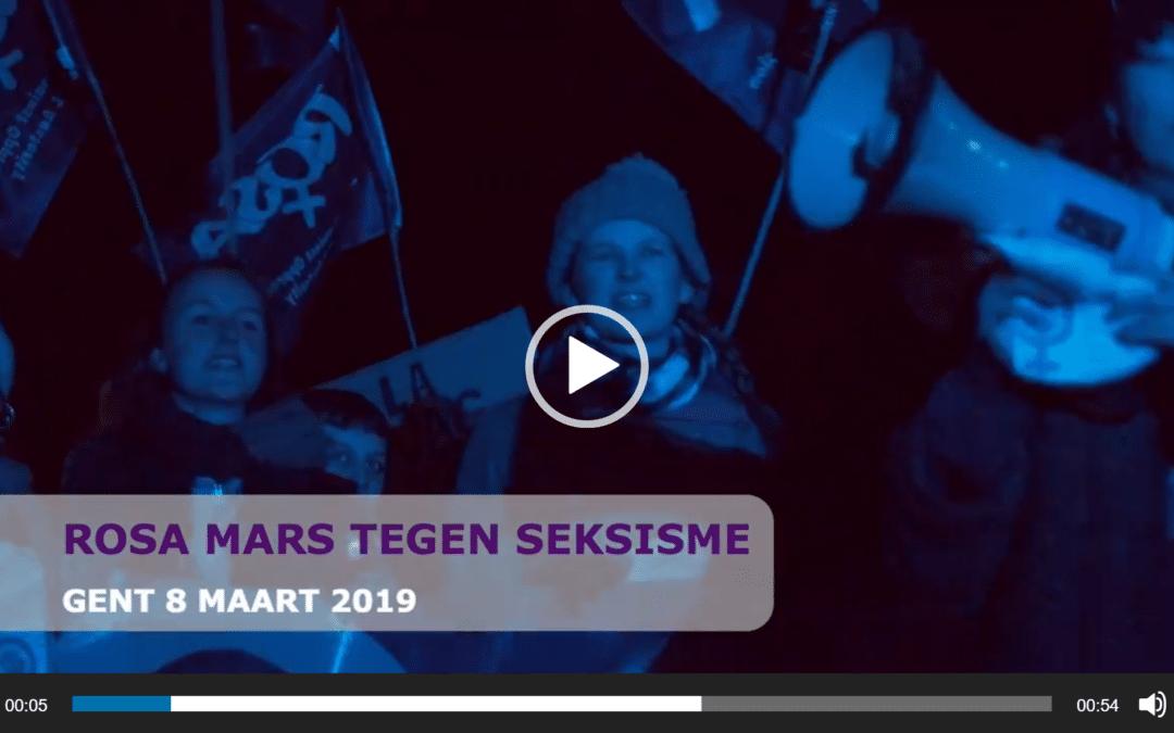 8 maart/Gent – Intensieve campagne leidt naar strijdbare betoging