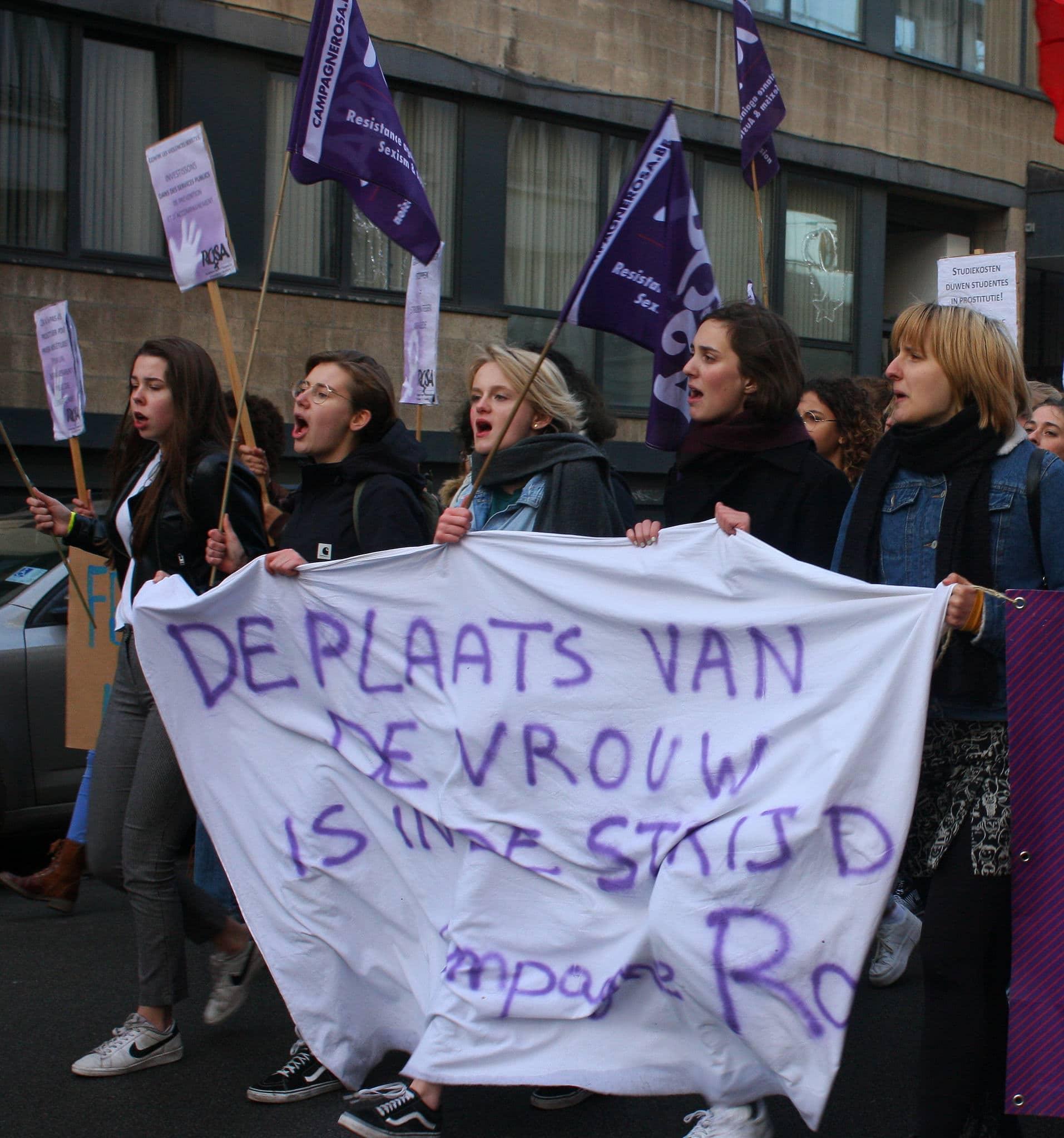 Betoging op 25 november – Stop geweld op vrouwen!