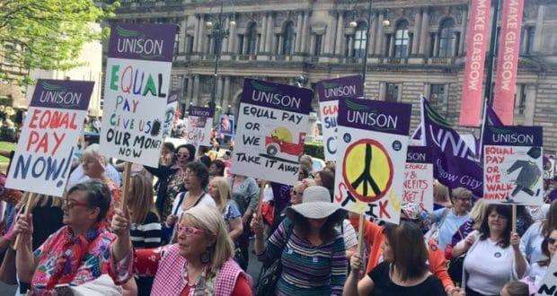 Historische staking voor gelijk loon in Glasgow