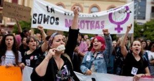 Spanje - Studenten en scholierenstaking op 10 mei tegen verkrachtingscultuur