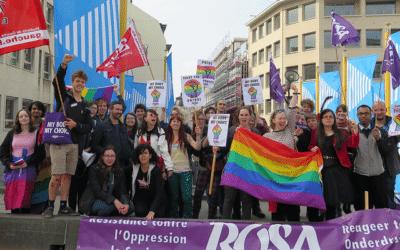 Strijdbare delegatie op Belgian Pride : 'Pride is a protest'