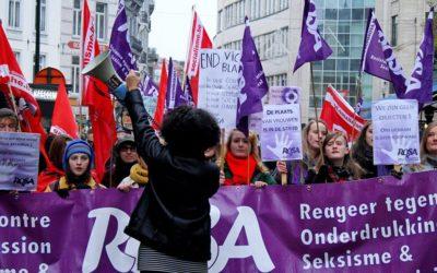 25 november - Grote betoging tegen geweld op vrouwen