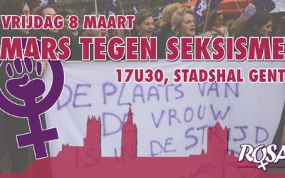 8 maart - Mars Tegen Seksisme 2019 - Gent