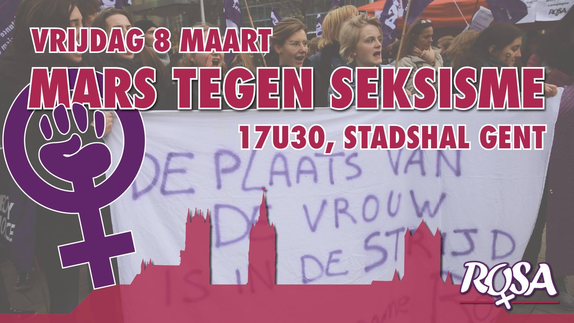 8 maart – Mars Tegen Seksisme 2019 – Gent