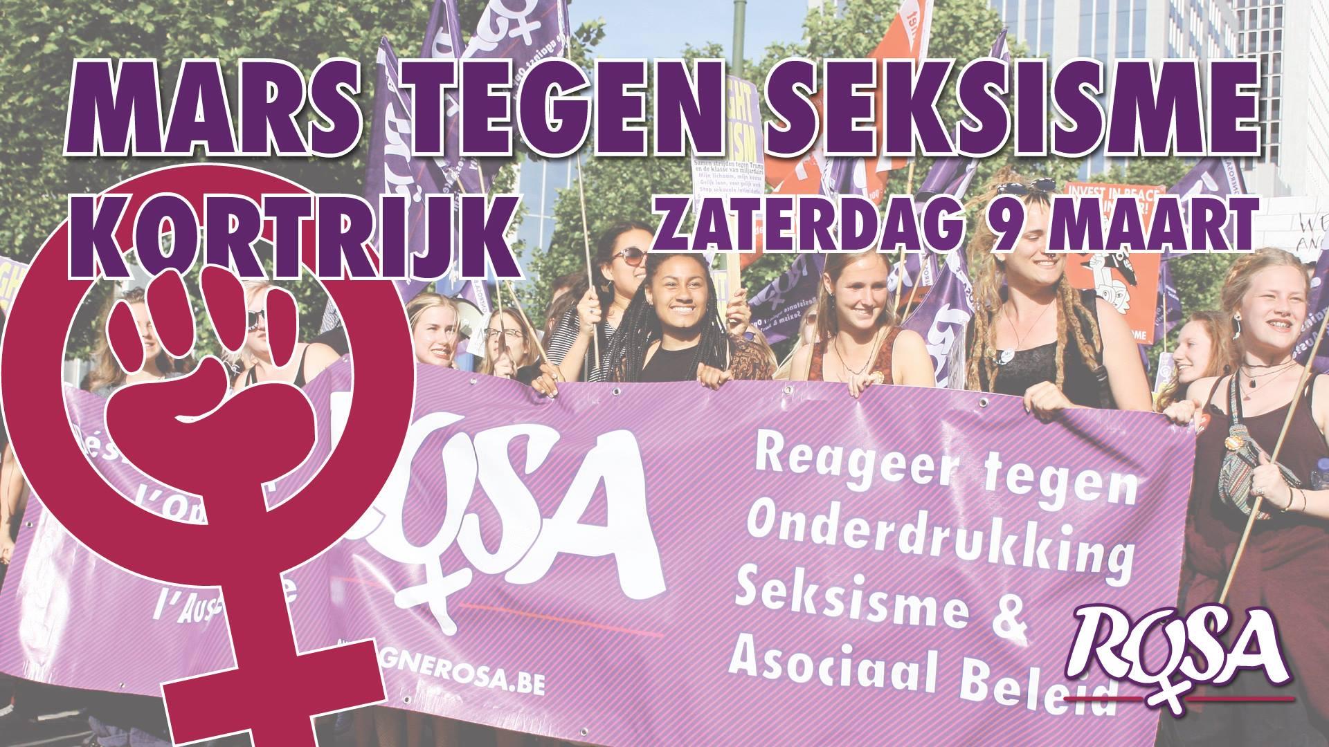 'Mars tegen Seksisme' in Kortrijk