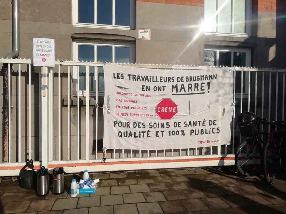 Campagne ROSA op vakbondsacties van 8 maart in Brussel