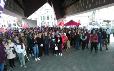 8 maart 2019. Women's Strike UGent.