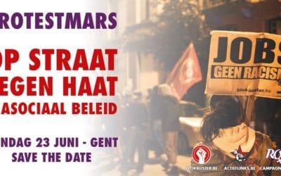 Protestmars: Op straat tegen haat & asociaal beleid !