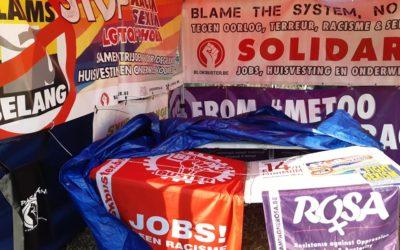 Extreemrechts vandaliseert infostand van ROSA & Blokbuster. Geweld beantwoorden met mobilisatie!