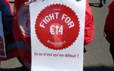 Minimum €14/u: een feministische eis !