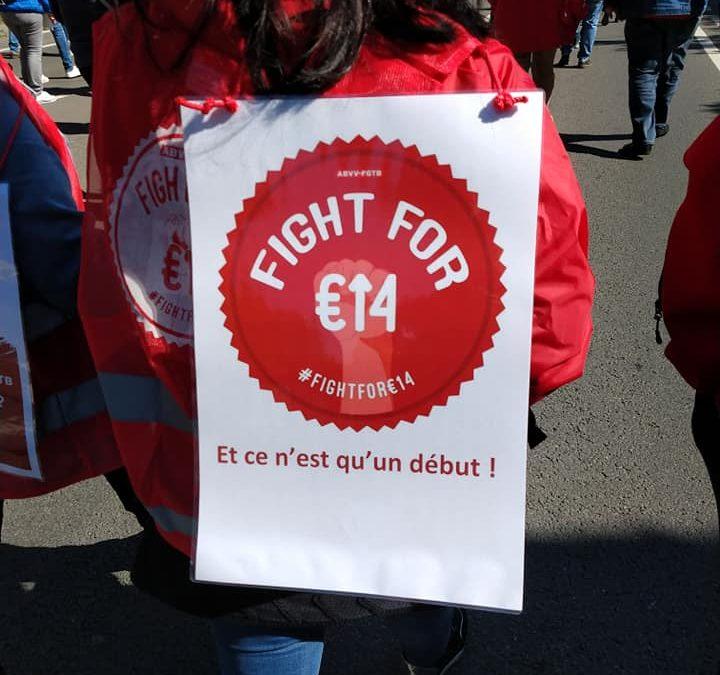 Minimum €14/u: een feministische eis!