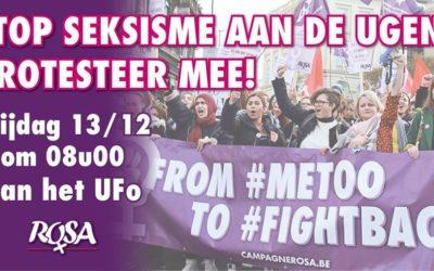 Stop seksisme aan de UGent! Protesteer mee!