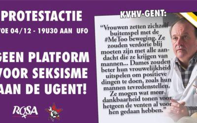 Actie: Geen platform voor seksisme aan de UGent!