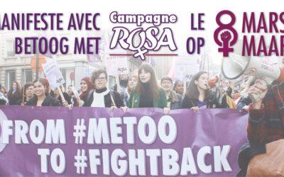 8 maart: Betoog mee met Campagne ROSA