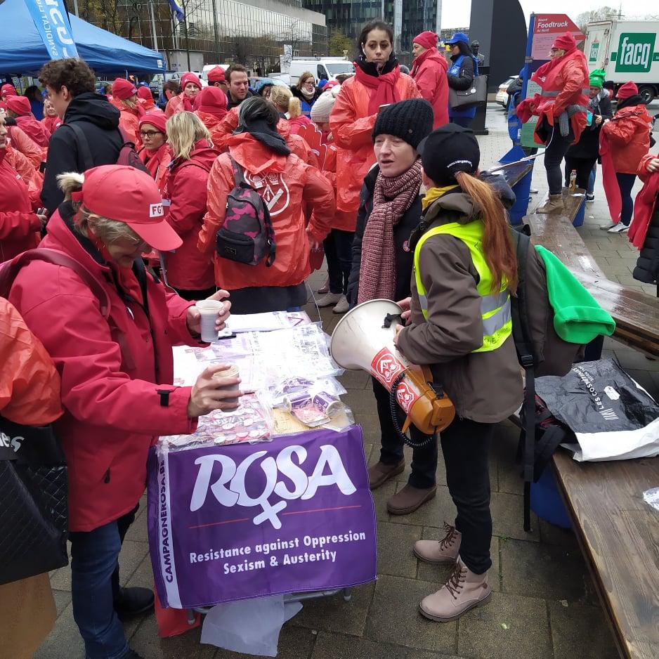 Campagne ROSA solidair met dienstenchequewerkneemsters!