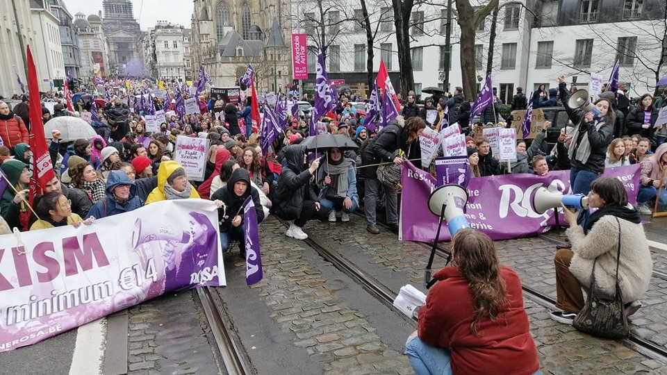 Internationale vrouwendag: grote betoging in Brussel tegen seksisme