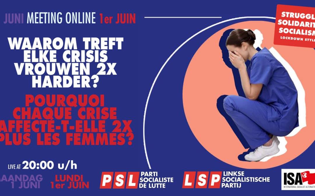 LSP online meeting op 1 juni: 'Waarom treft elke crisis vrouwen 2x harder'