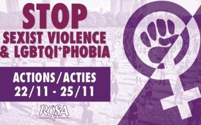 25 November: Stop seksistisch en LGBTQI+foob geweld