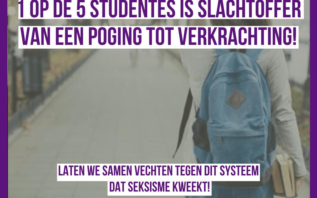 Eén op de vijf Belgische studenten is slachtoffer van een verkrachtingspoging: seksisme is overal!