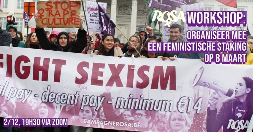 [Workshop] Organiseer mee protestacties op 8 maart!