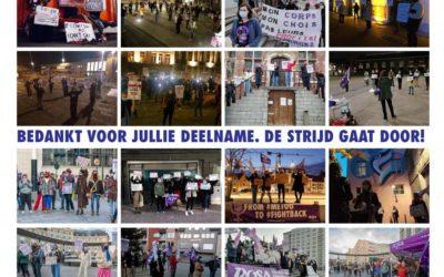 Campagne ROSA voerde in 11 steden actie tegen geweld op vrouwen