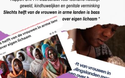 """😡 """"Slechts de helft van de vrouwen in arme landen is baas over eigen lichaam."""""""