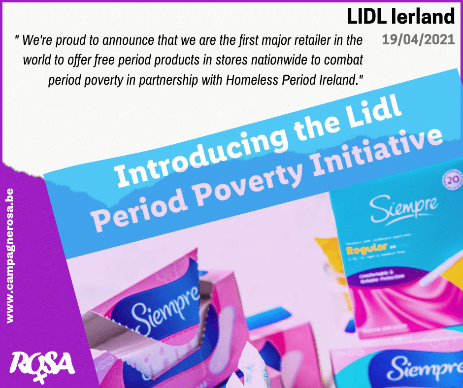 LIDL Ierland – 'Period Poverty Initiative'
