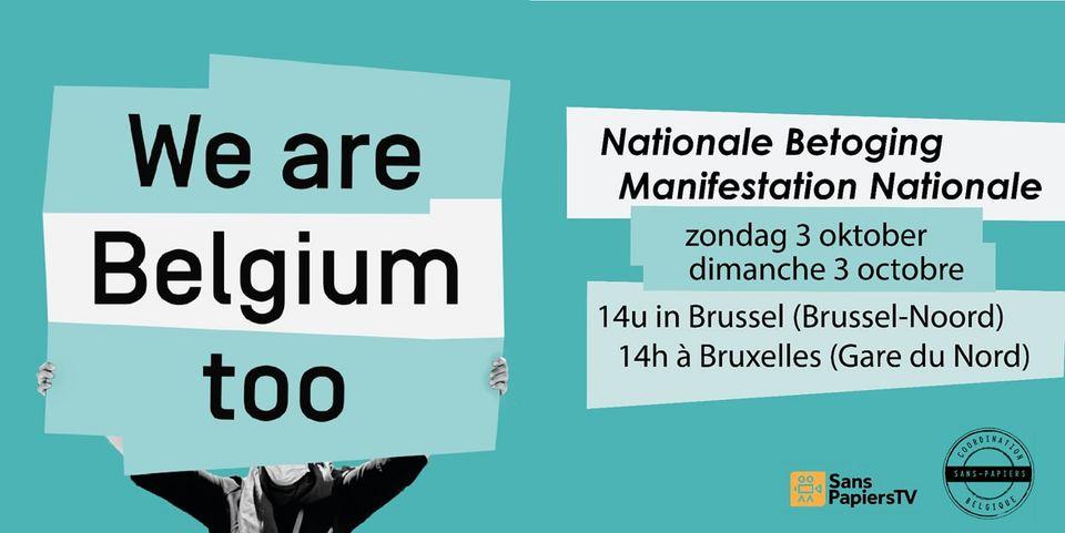 [2/10] WE ARE BELGIUM TOO: Nationale Betoging/Manifestation Nationale