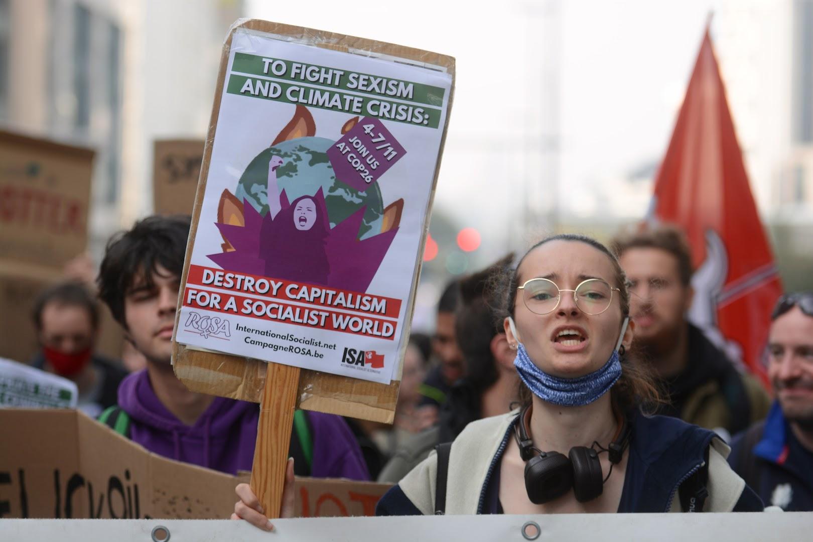 Straffe klimaatbetoging brengt 70.000 mensen naar Brussel