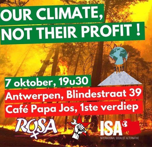 [Meeting – Antwerpen] Klimaatcrisis en kapitalisme